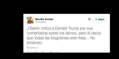 Dijo que las mujeres de la capital de Colombia, Bogotá, eran feas. Foto:vía Twitter