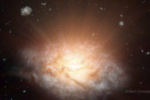 La NASA descubrió una galaxia remota que resplandece entre la inmensidad del universo. Foto:Vía nasa.gov