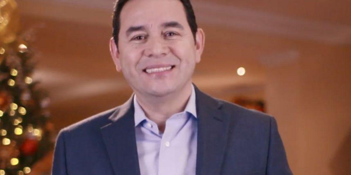 Jimmy Morales y su primer mensaje navideño como presidente de Guatemala