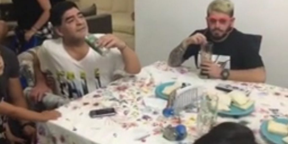 VIDEO. Maradona comparte la intimidad de su familia con un