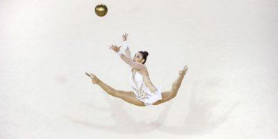 La gimnasta Rut Castillo de Cuba en los Juegos Panamericanos 2015. Foto:AFP