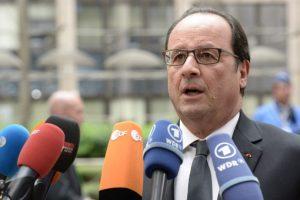 """Francois Hollande: """"Francia va a hacer todo lo necesario para encontrar un acuerdo que permita a Grecia quedarse en la zona euro"""" Foto:AFP"""