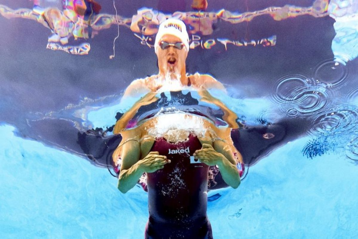 Nadador en el Campeonato Mundial FINA 2015. Foto:AFP