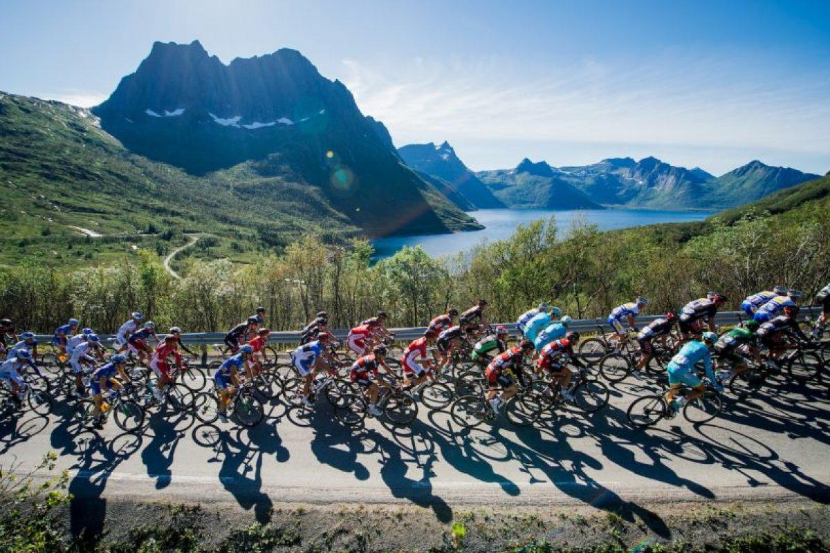 Ciclistas en Noruega. Foto:AFP