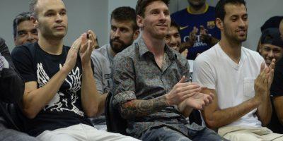 Pero este lunes dijo adiós de manera oficial en un evento donde estuvieron sus excompañeros y directivos del club catalán. Foto:AFP
