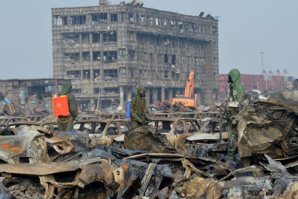 Explosión de almacén químico en China. Foto:AFP