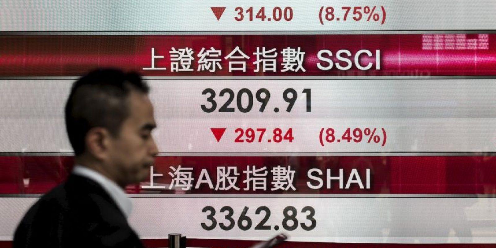 Ocasionando que varios mercados se desplomen. Foto:AFP
