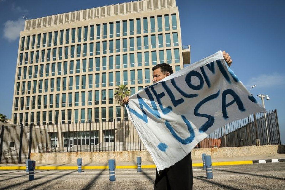 Estados Unidos abre su embajada en La Habana, Cuba. Foto:AFP