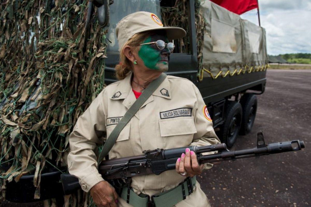 Integrante del Ejército de Venezuela. Foto:AFP