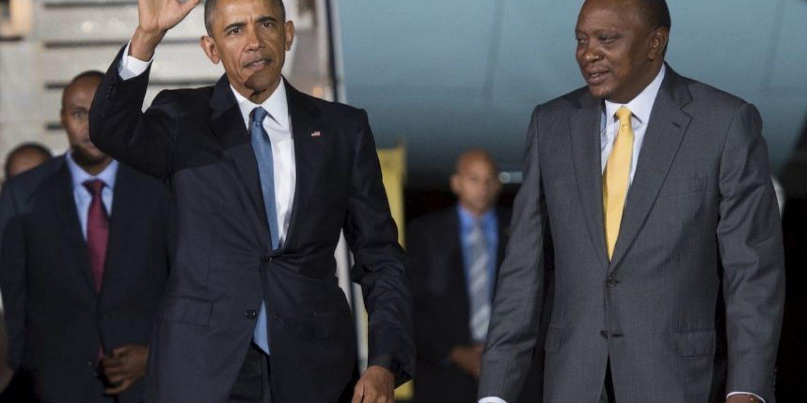 El presidente Barack Obama y el presidente de Kenia, Uhuru Kenyatta. Foto:AFP