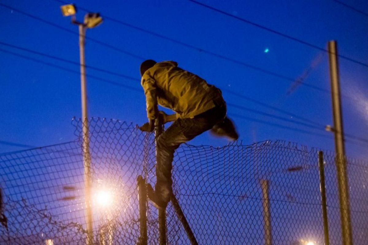 Migrante en Francia. Foto:AFP