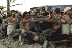 Migrantes en Grecia. Foto:AFP