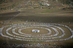 Religiosos en Bulgaria. Foto:AFP
