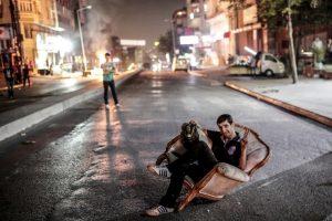 Manifestante en Turquía. Foto:AFP