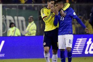 ¿Qué le dijo James a Neymar al final del partido entre Brasil y Colombia? Foto:AFP