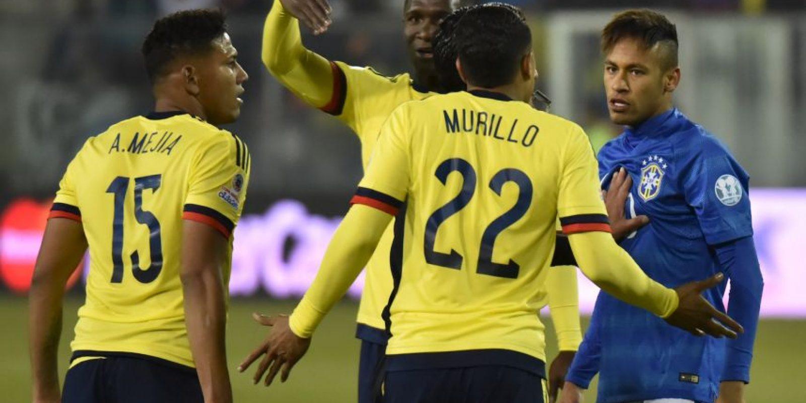 Neymar no la pasó muy bien en el duelo entre Brasil y Colombia. Foto:AFP