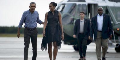 El presidente Barack Obama y su familia regresaron el domingo 23 de agosto a la Casa Blanca. Foto:AP