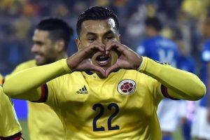El cuadro cafetero se recuperó de la derrota contra Venezuela para volver a la pelea por el grupo C. Foto:AFP