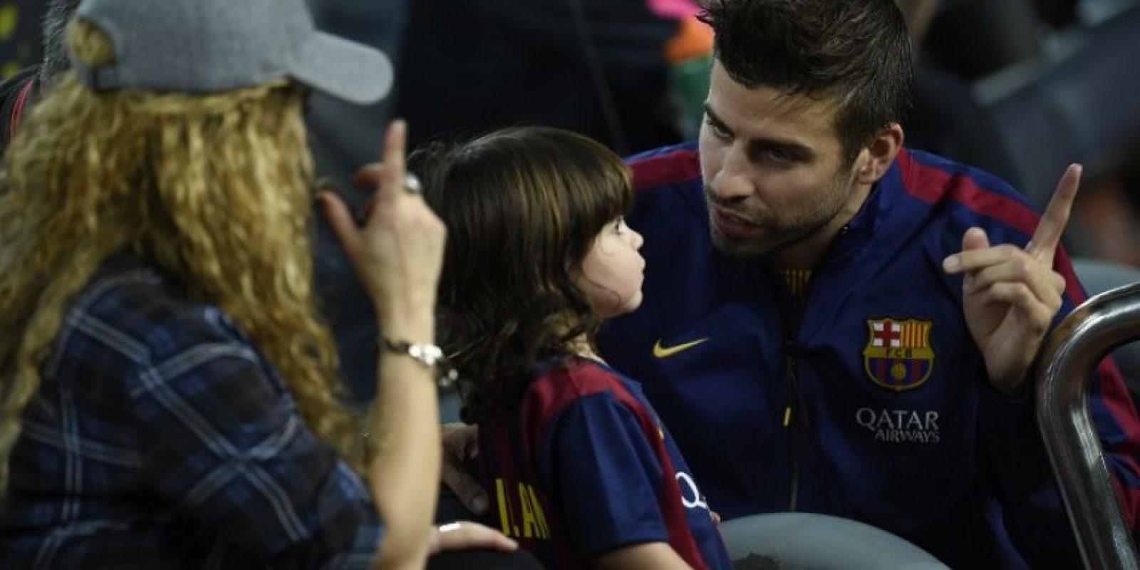 El hijo del futbolista y la cantante es objeto de gran atención mediática desde su nacimiento. Foto:AFP