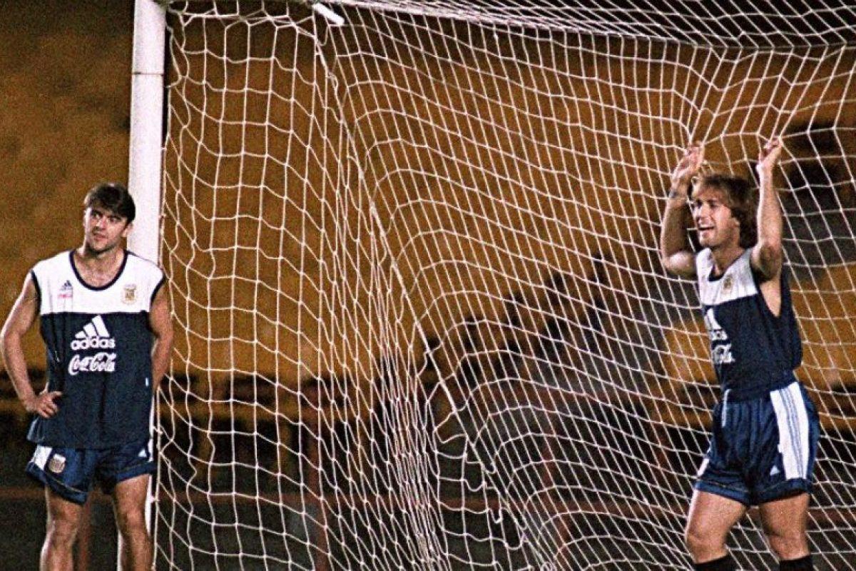 """""""Bati"""" fue uno de los delanteros más temidos en los 90 en la Serie A y con la selección argentina. Foto:AFP"""