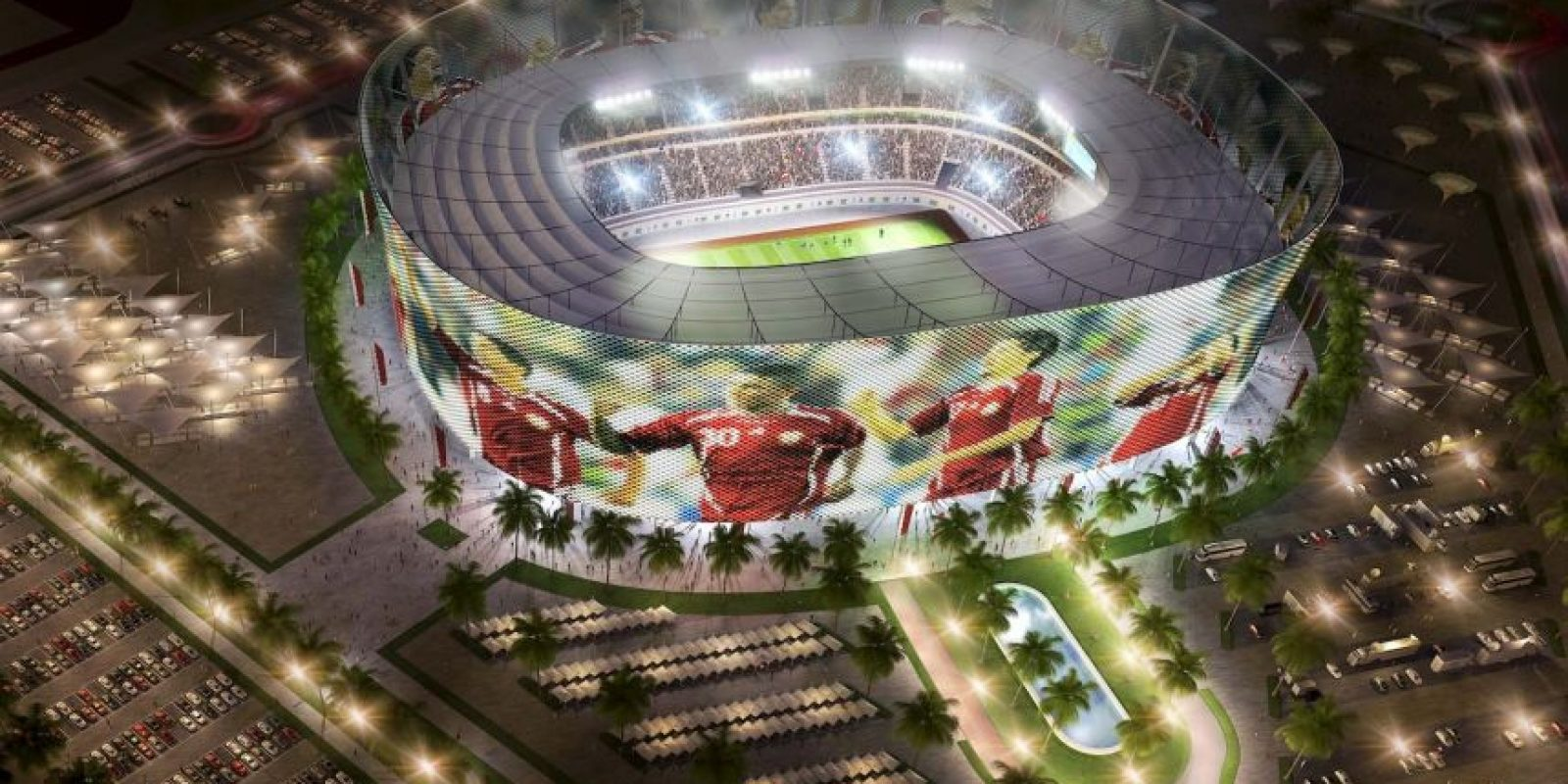 """The Al-Rayyan stadium"" Foto: Getty Images"