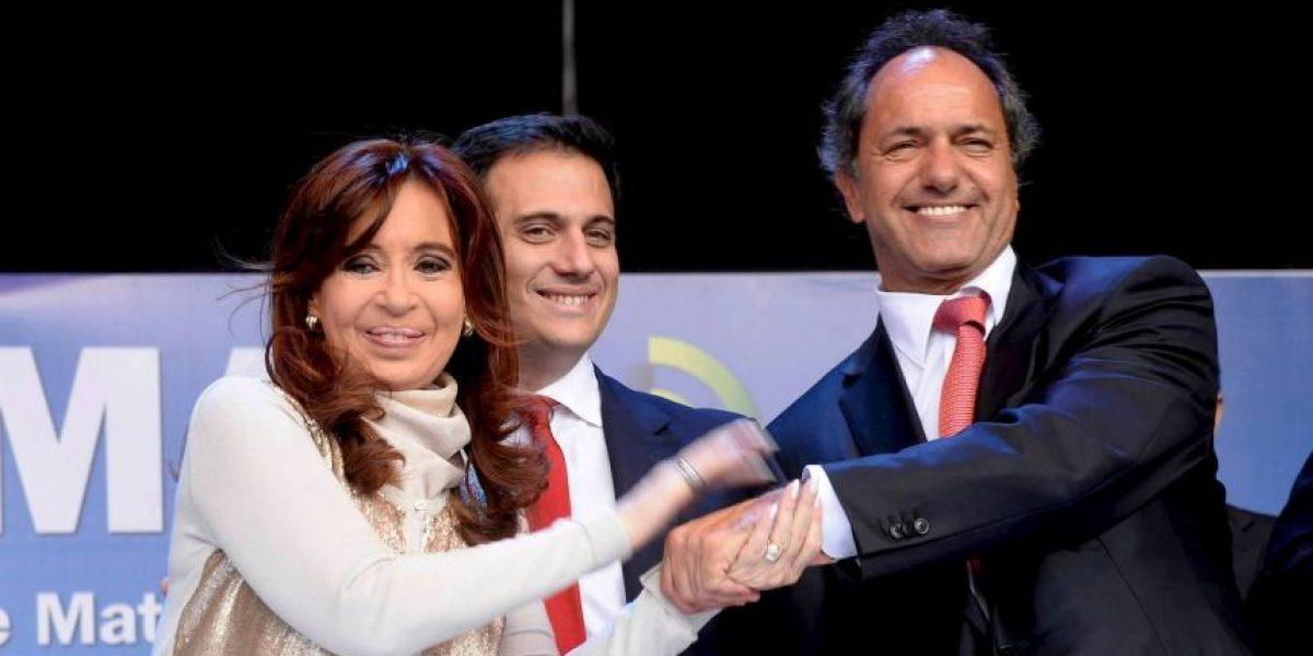 Preliminares: Candidato oficialista Daniel Scioli, el más votado en elecciones argentinas