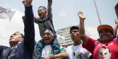 Las imágenes más destacadas de la marcha por el Día del Trabajo