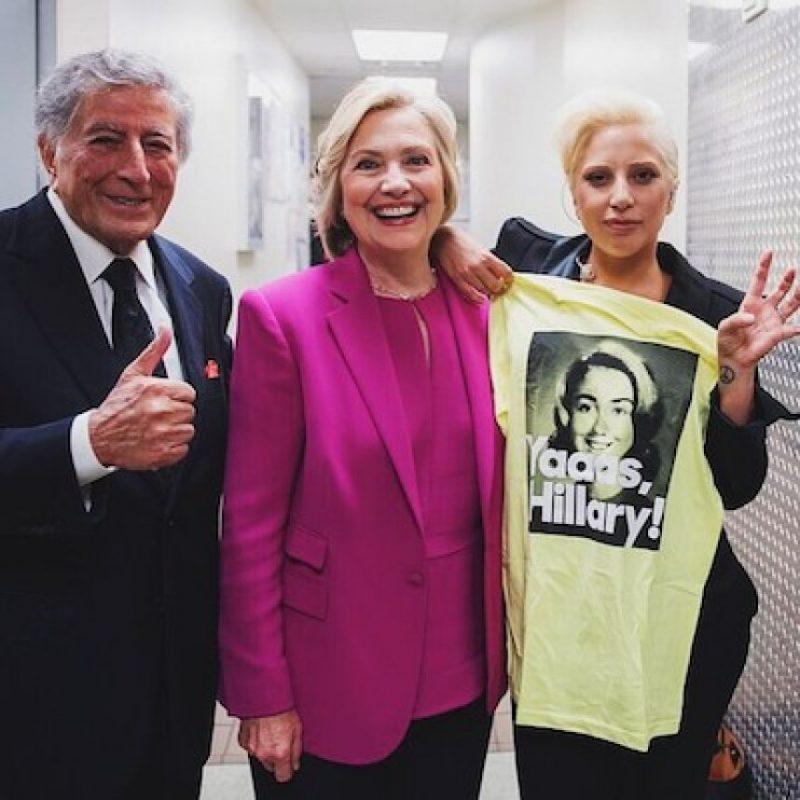 Tony Bennet y Lady Gaga Foto:Instagram.com/HillaryClinton