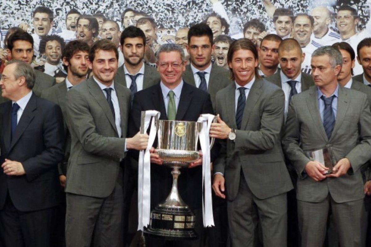 En el Real Madrid ganó una Copa del Rey en 2011. Foto:Getty Images