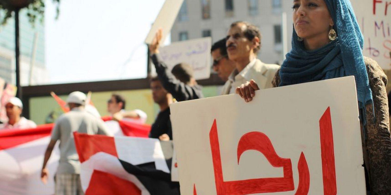 Así se ven algunas protestas en Yemen. Foto:Getty Images