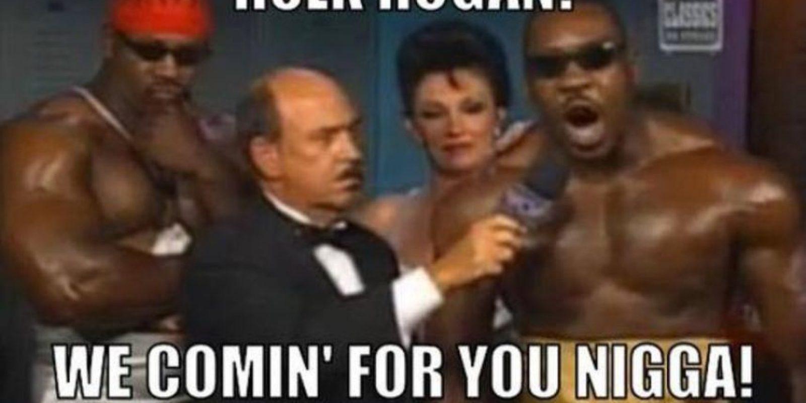 "Hulk Hogan, vamos por ti, ""nigga"". Foto:facebook.com/WWEMEMES"