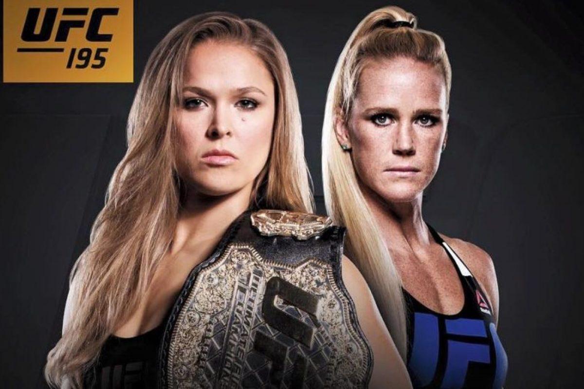 El 2 de enero de 2016, Ronda Rousey defenderá su corona de Peso Gallo de Mujeres durante UFC 195. Foto:Vía twitter.com/RondaRousey