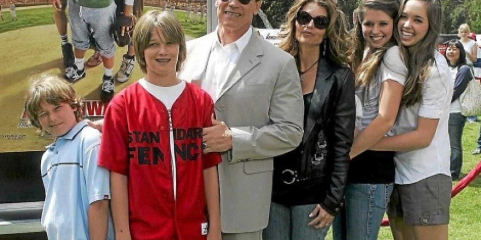 Arnold Schwarzenegger y su familia