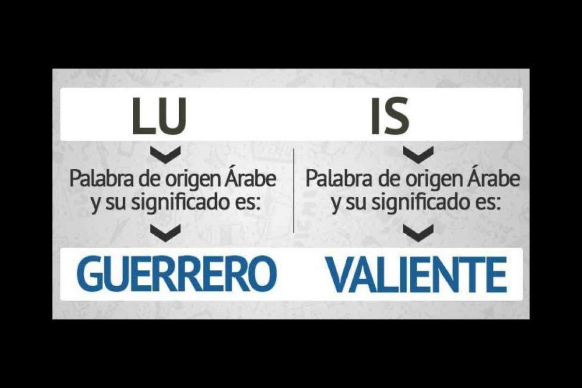 """Estos son los resultados. Según la página, """"Luis"""", un nombre muy común en Latinoamérica significa """"guerrero valiente"""". Foto:eWikin.com"""