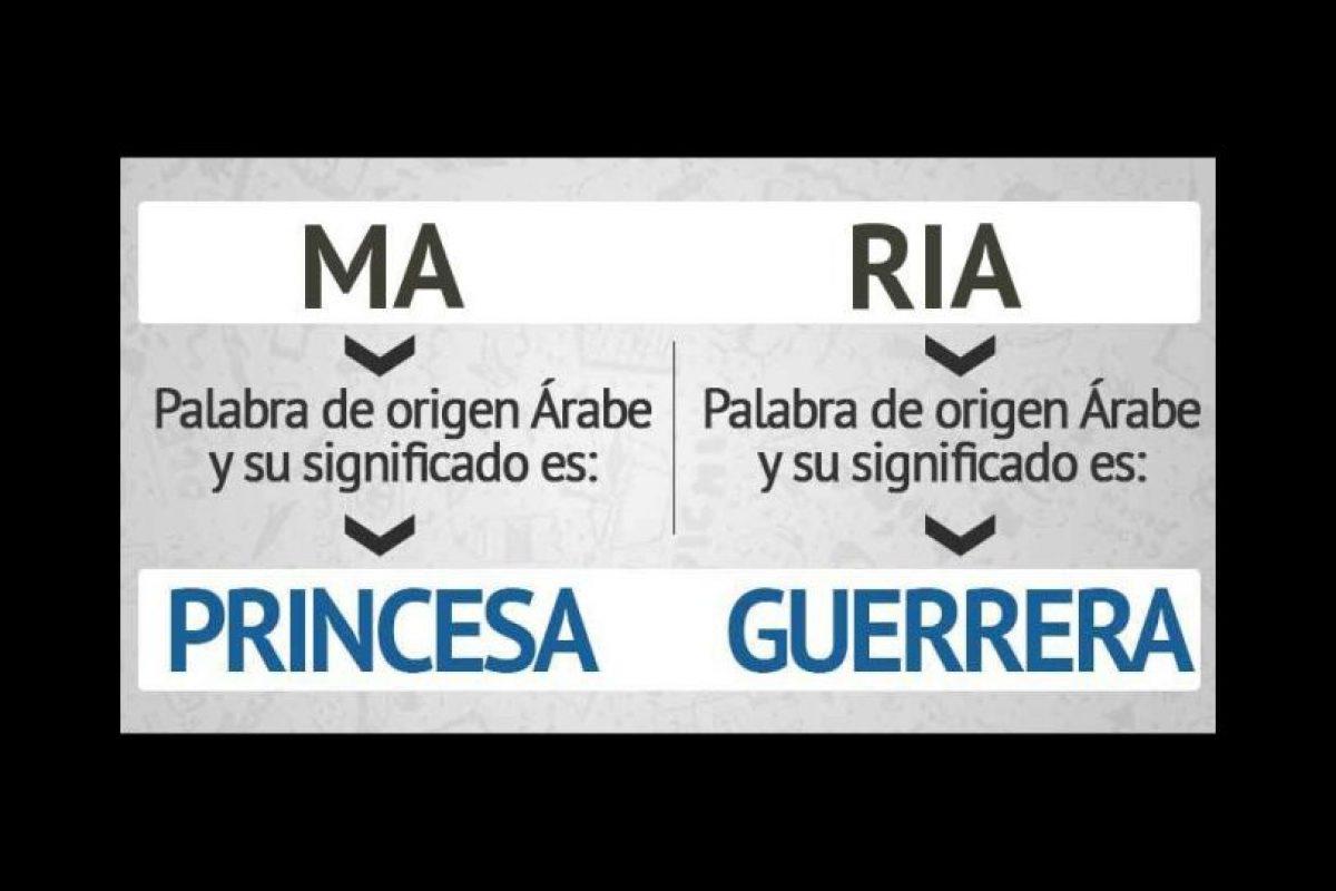 """Ahora hablemos de nombres de mujer. El popular """"María"""" significa """"princesa guerrera"""". Foto:eWikin.com"""