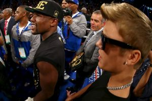 Mayweather: Justin Bieber, cantante canadiense. Foto: Getty Images