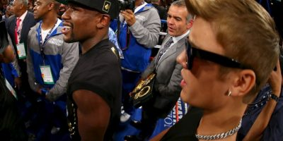 Mayweather: Justin Bieber, cantante canadiense. Foto:Getty Images