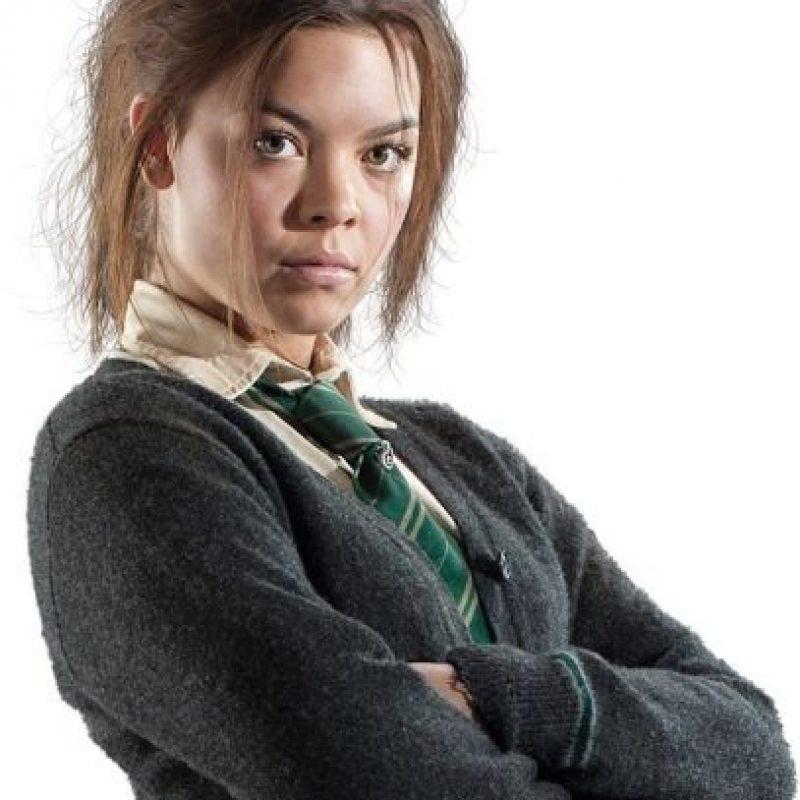 """En la saga """"Harry Potter"""", Scarlett Byrne interpretó a """"Pansy Parkinson"""", una alumna de """"Slytherin"""" y buena amiga de """"Draco Malfoy"""". Foto:Warner Bros"""