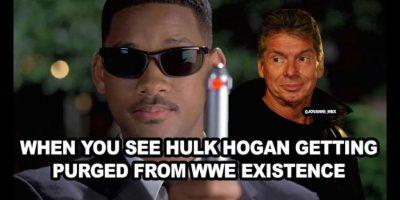 Cuando ves que Hulk Hogan está siendo quitado de la vida de la WWE. Foto:Vía facebook.com/WWEMEMES