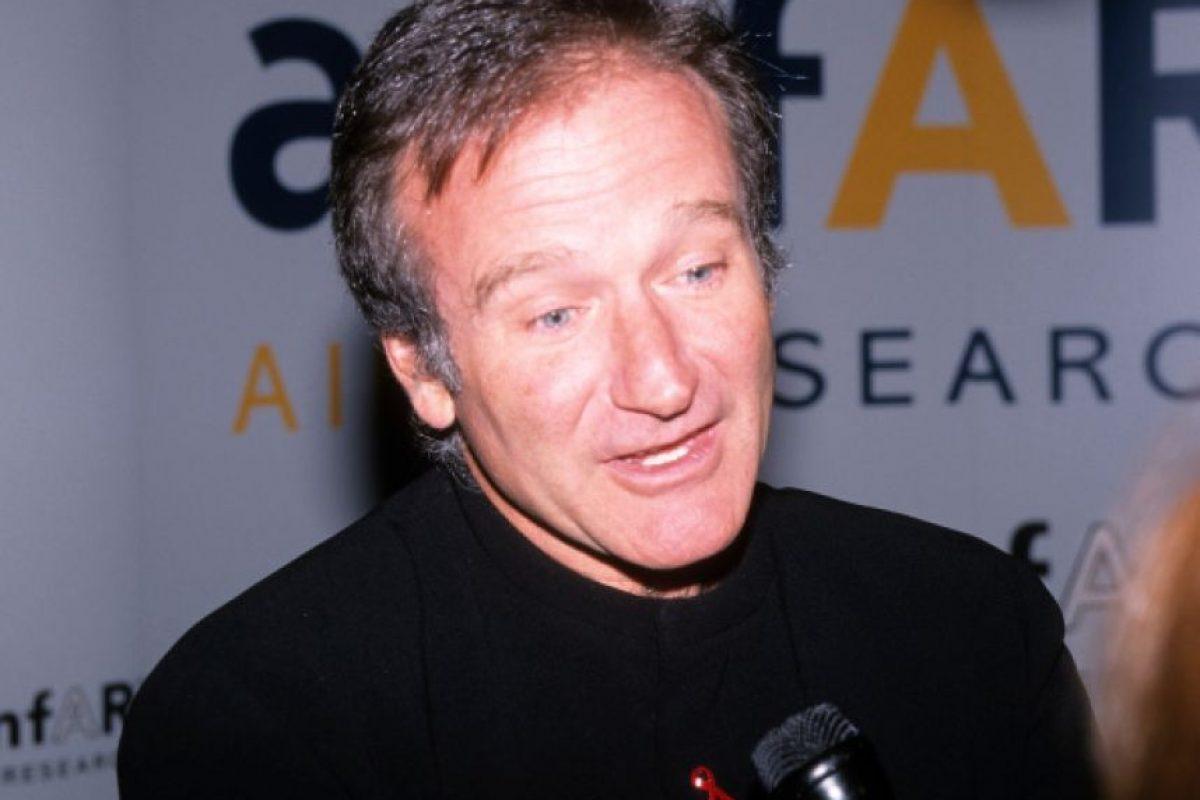 Robin Williams, en un evento. Se suicidó ahorcándose por su cinturón. Foto:vía Getty Images