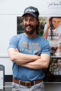 Matthew McConaughey. En 1999 lo arrestaron por tocar el bongó hasta altas horas de la noche en su departamento, en el cual los agentes encontraron marihuana Foto:Getty Images