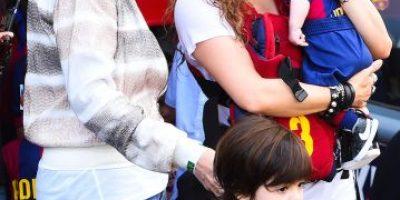 """Sasha Piqué hace su """"debut"""" en el campo de juego"""