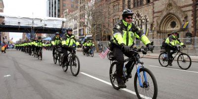 La seguridad se reforzó con más policías en bicicletas Foto:Getty Images