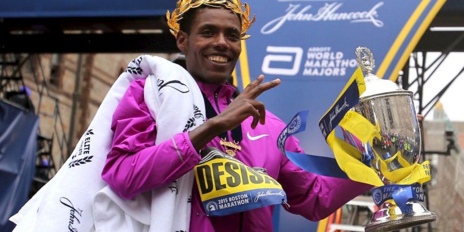 Lesisa Desisa es el nombre del ganador en la categoría masculina en 2015 Foto:Getty Images
