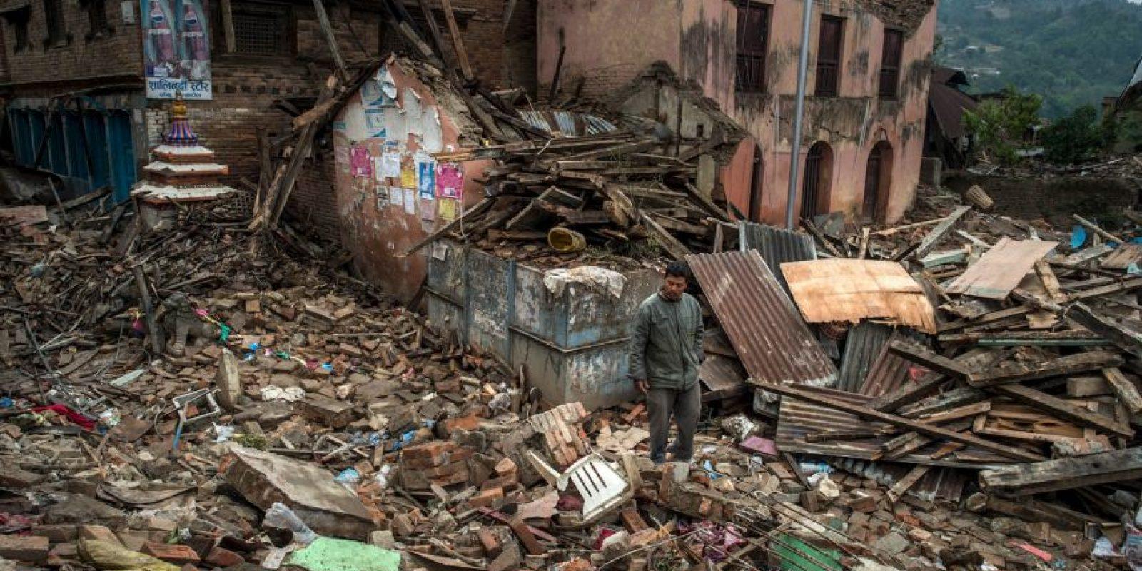 El 25 de abril de 2015 un fuerte terremoto sacudió Nepal. Foto:Getty Images