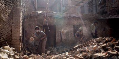 Su epicentro fue a 81 kilómetros al noroeste de Katmandú, en el distrito de Lamjung, Nepal. Foto:Getty Images