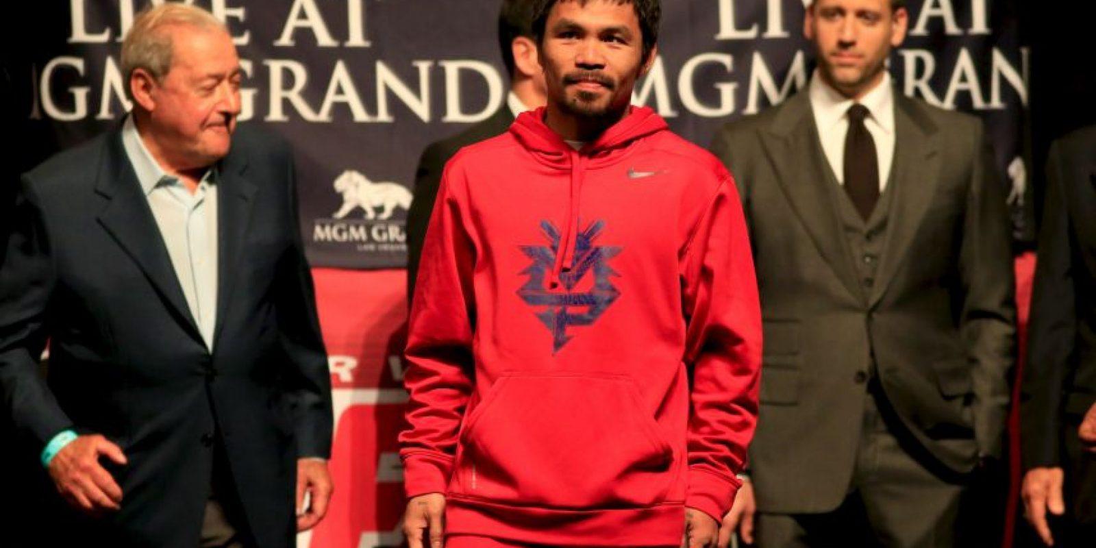 """Además de boxeador, """"Pacman"""" es político, altruista, cantante y actor. Foto:Getty Images"""
