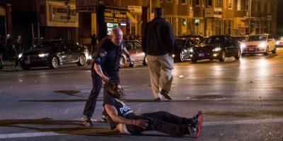 Pero estas imágenes muestran las protestas del pasado 2 de mayo por la muerte de Freddie Gray Foto:Getty Images