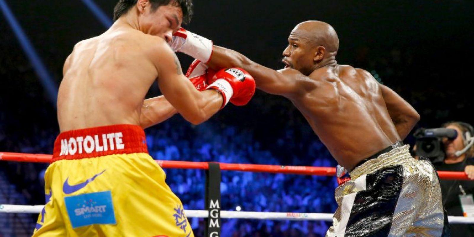"""Mayweather: """"¿La pelea valió la pena? Cuando se escriba la historia del boxeo lo vamos a saber"""". Foto:Getty Images"""