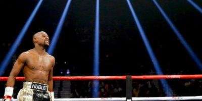 """Mayweather: """"Todo mundo dice muchas cosas algunas veces. Tengo 48 peleas, claro que quería ganarla"""". Foto:Getty Images"""